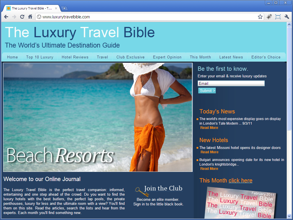 The Luxury Travel Bible